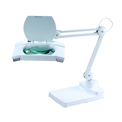 Tenbury Wells Collection 31-inch Heavy-duty White Fluorescent Magnifying Table Lamp