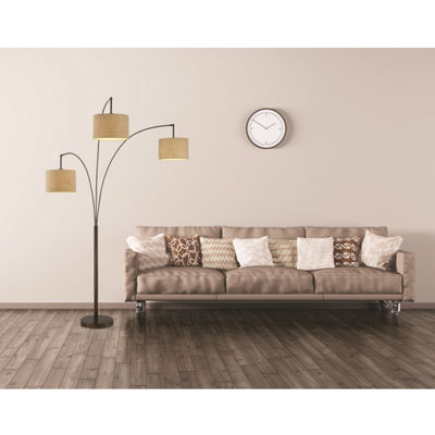 Tenbury Wells Collection Lumiere Modern Antique Bronze LED 80-inch 3-arched Floor Lamp with Dimmer
