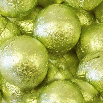 Foiled Solid Milk Leaf Green Balls 1lb