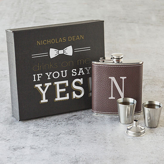 Cathy S Concepts 5 Pc Personalized Flasks
