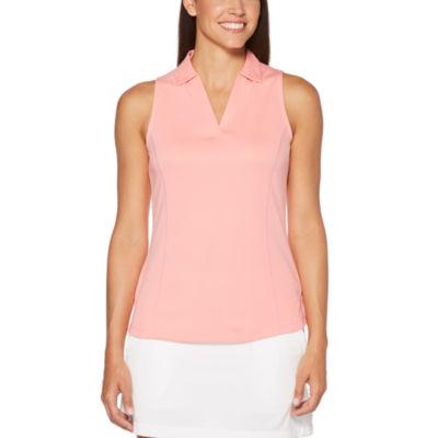PGA TOUR Easy Care Sleeveless Mesh Polo Shirt