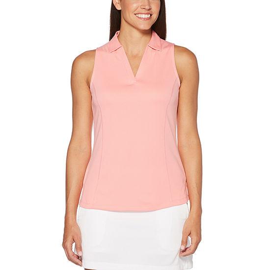 b14990f2578ed PGA TOUR Easy Care Sleeveless Mesh Polo Shirt JCPenney