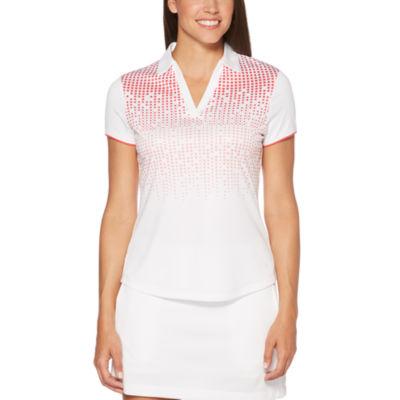 PGA TOUR Short Sleeve Dots Polo Shirt
