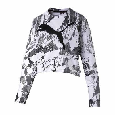 Puma Graphic Cropped Sweatshirt
