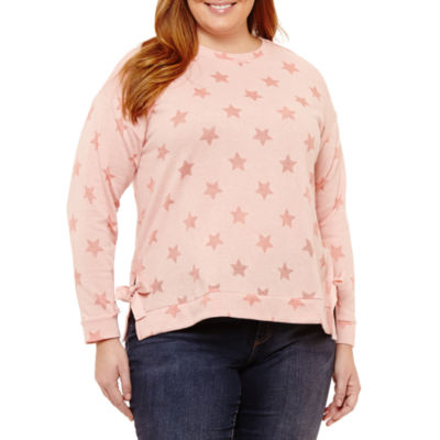 Long Sleeve Star Pullover with Side Ties - Plus