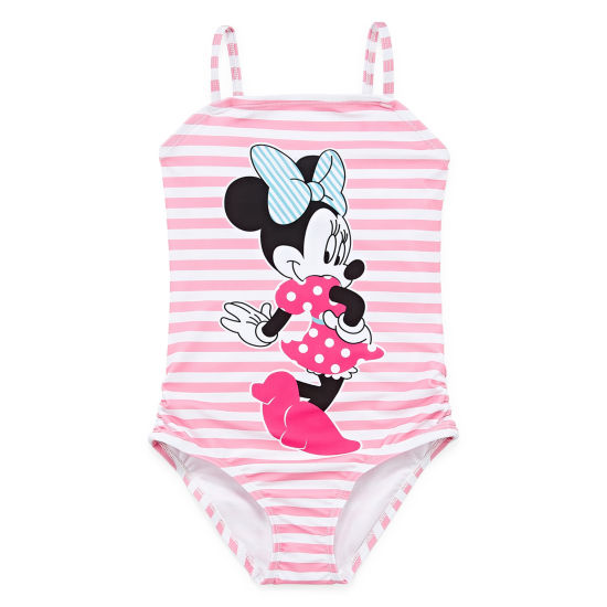 Disney Minnie Mouse One Piece Swimsuit Girls