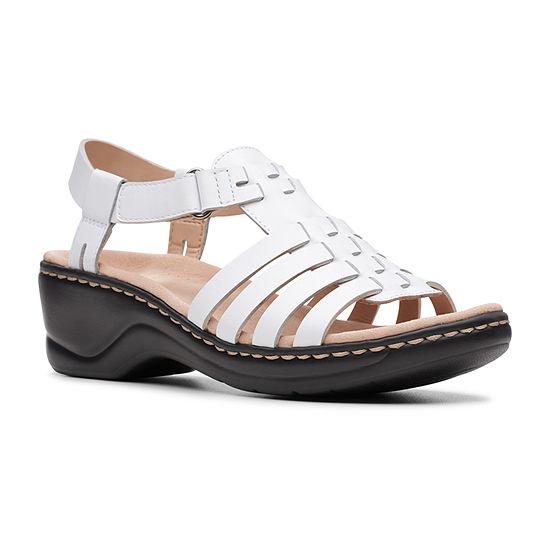 Clarks Womens Lexi Bridge Wedge Sandals