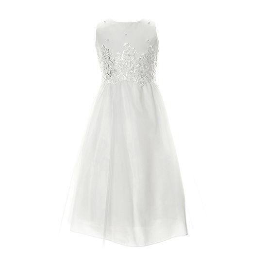 Keepsake First Communion Girls Sleeveless A-Line Dress - Big Kid