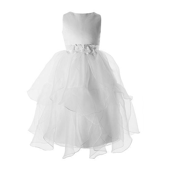 Keepsake First Communion Girls Embellished Sleeveless Fit & Flare Dress - Big Kid
