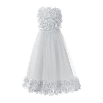 Keepsake First Communion Embellished Sleeveless A-Line Dress - Big Kid Girls