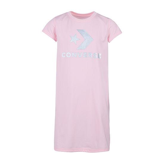 Converse Big Girls Short Sleeve Logo T-Shirt Dress