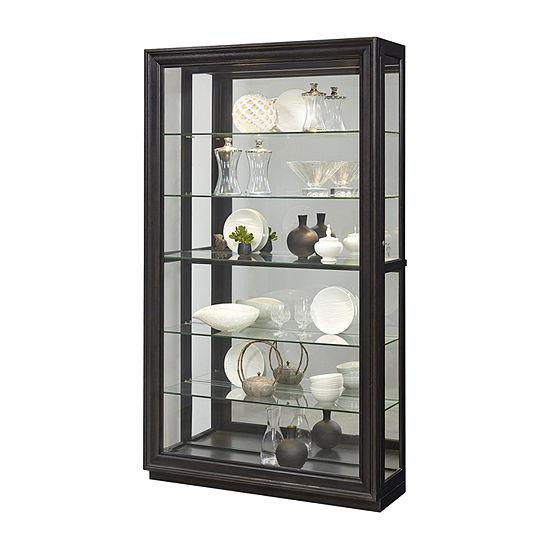 Rockford Mirrored Two Way Sliding Door Curio Cabinet