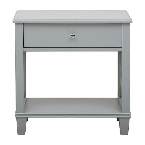 Grey Open 'X' Leg Side Table