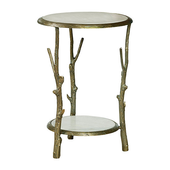 Brady Round Marble Top Accent Table