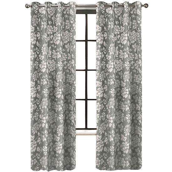Light-Filtering Grommet-Top Single Curtain Panel