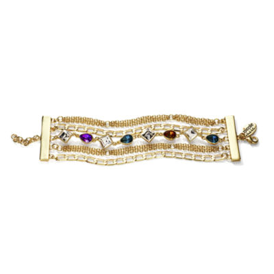 nicole by Nicole Miller® Multicolor Crystal Chain Bracelet