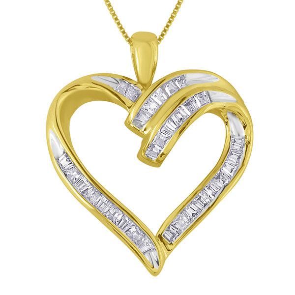 13 ct tw diamond 10k yellow gold heart pendant necklace jcpenney tw diamond 10k yellow gold heart pendant necklace aloadofball Choice Image