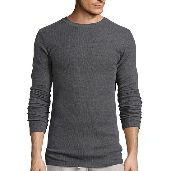 Hanes Textured Thermal Crewneck Sleep Shirt