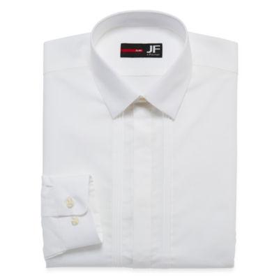 JF J. Ferrar® Easy-Care Tuxedo  Shirt - Slim Fit