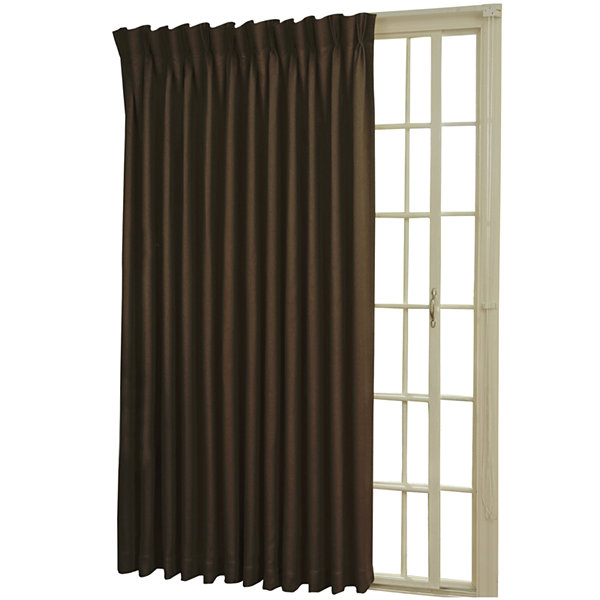 Superb Eclipse® Back Tab/Pinch Pleat Thermal Blackout Patio Door Curtain Panel