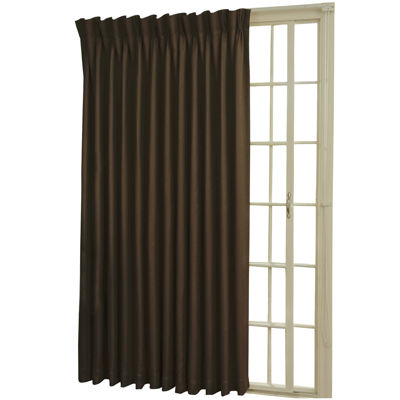 Eclipse® Back-Tab/Pinch-Pleat Thermal Blackout Patio Door Curtain Panel  sc 1 st  JCPenney & Eclipse Rod Pocket/Back Tab Patio Door Thermal Blackout Curtain Panel