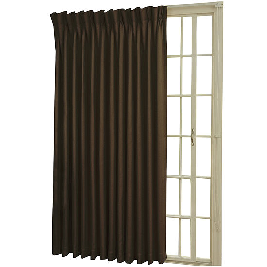 Eclipse Rod Pocketback Tab Patio Door Thermal Blackout Curtain Panel