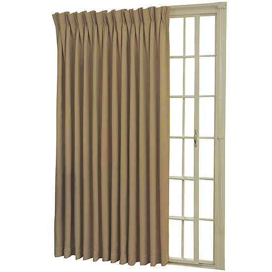 Eclipse Back Tab Pinch Pleat Thermal Blackout Patio Door