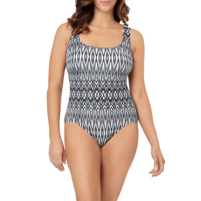 Le Cove Geo Linear One Piece Swimsuit