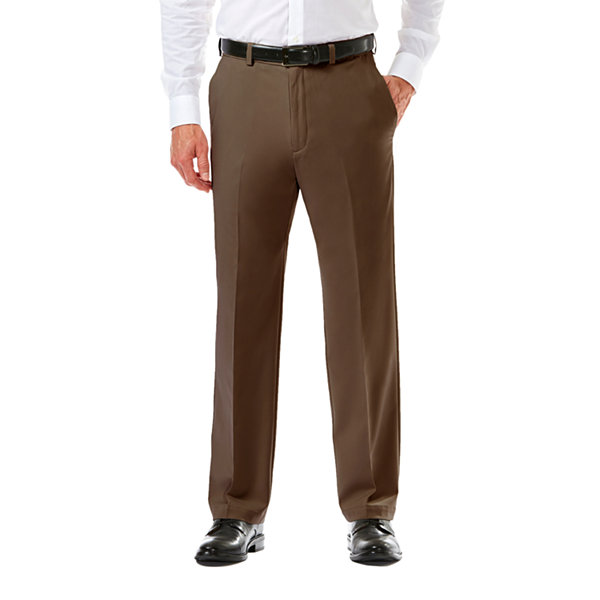 Haggar Mens Cool 18 Pro Straight Fit Flat Front Pant