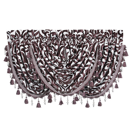 Queen Street Sarah Rod-Pocket Waterfall Valance