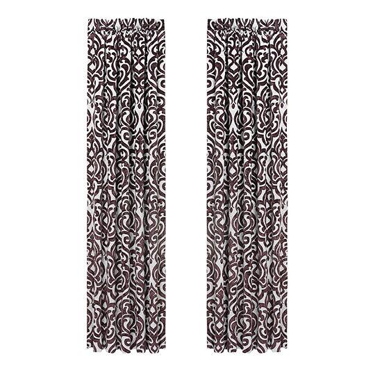 Queen Street Sarah 2 Pair Blackout Rod-Pocket Curtain Panels