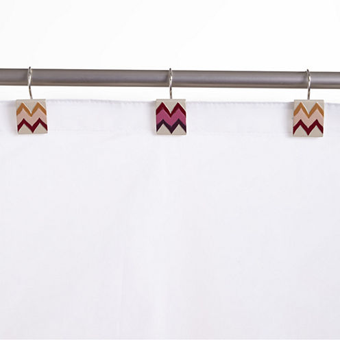 Popular Bath Flame Stitch Shower Curtain Hooks