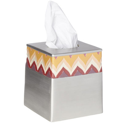 Popular Bath Flame Stitch Tissue Box Cover