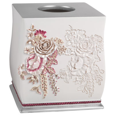Popular Bath Secret Garden Tissue Box Cover