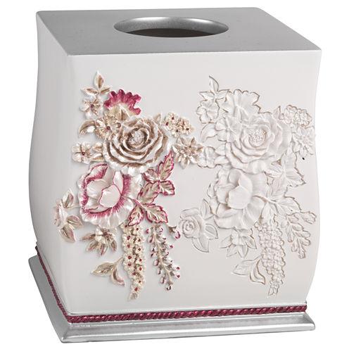 Popular Bath Secret Garden Tissue Box Cover