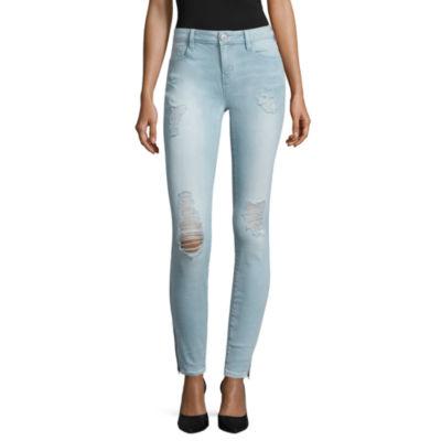 Belle + Sky Zip Hem Skinny Jeans