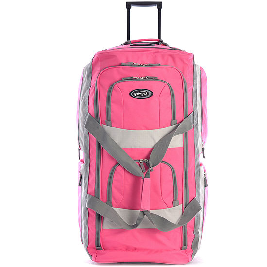 Olympia 8 Pocket 22 Carry On Rolling Upright Duffel Bag