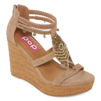 Pop Margie Womens Wedge Sandals