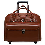 "McKleinUSA Edgebrook 15.4"" Leather Wheeled Laptop Briefcase"
