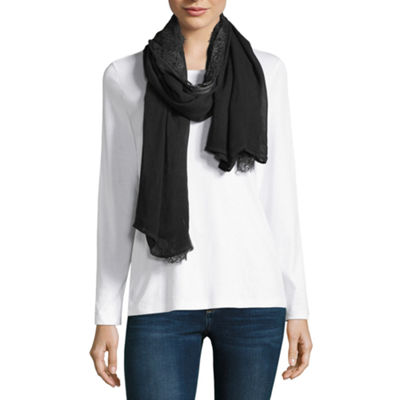 Mixit Lace Trim Oblong Scarf
