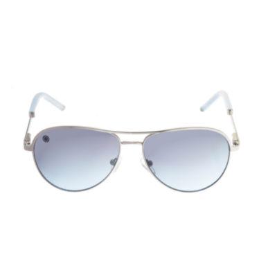 Nicole By Nicole Miller Full Frame Aviator Sunglasses-Womens