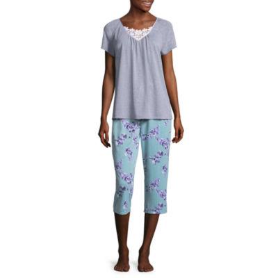 Adonna Lace Insert Capri Pajama Set