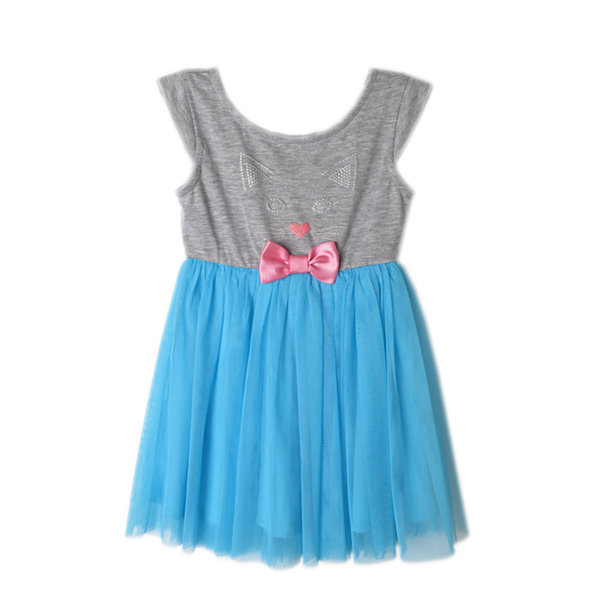 Lilt Short Sleeve Kitty Tutu Dress - Baby Girls