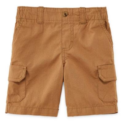 Okie Dokie Twill Cargo Shorts - Toddler Boys