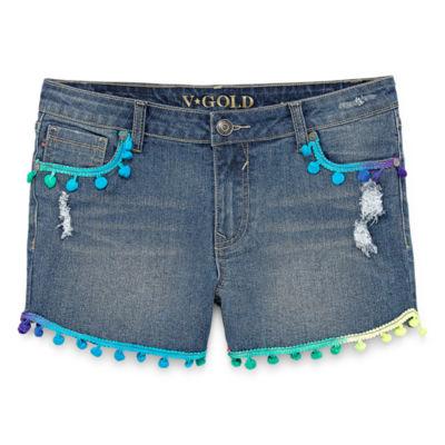 Vgold Girls Shortie Short - Big Kid Plus