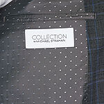 Collection by Michael Strahan  Mens Plaid Stretch Classic Fit Suit Jacket