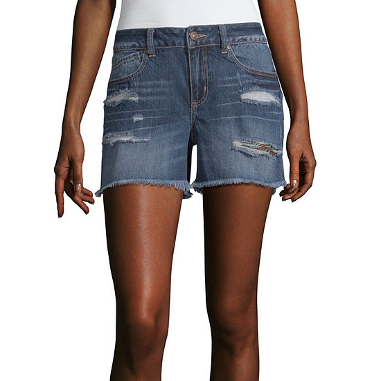 Rewash Womens Mid Rise Midi Short-Juniors