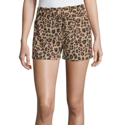 Almost Famous Womens Low Rise Pull-On Short-Juniors
