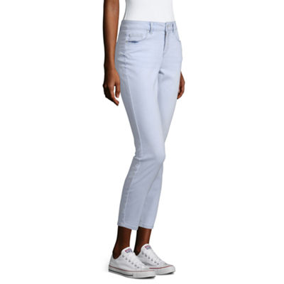Blue Spice Womens High Waisted Skinny Cropped Jean - Juniors