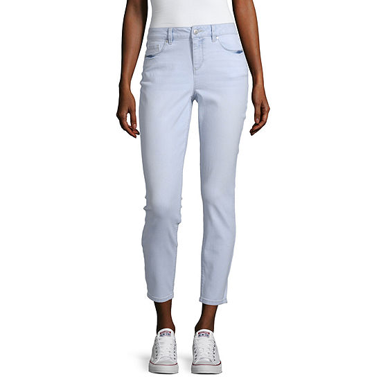 Blue Spice - Juniors Womens High Rise Skinny Cropped Jean